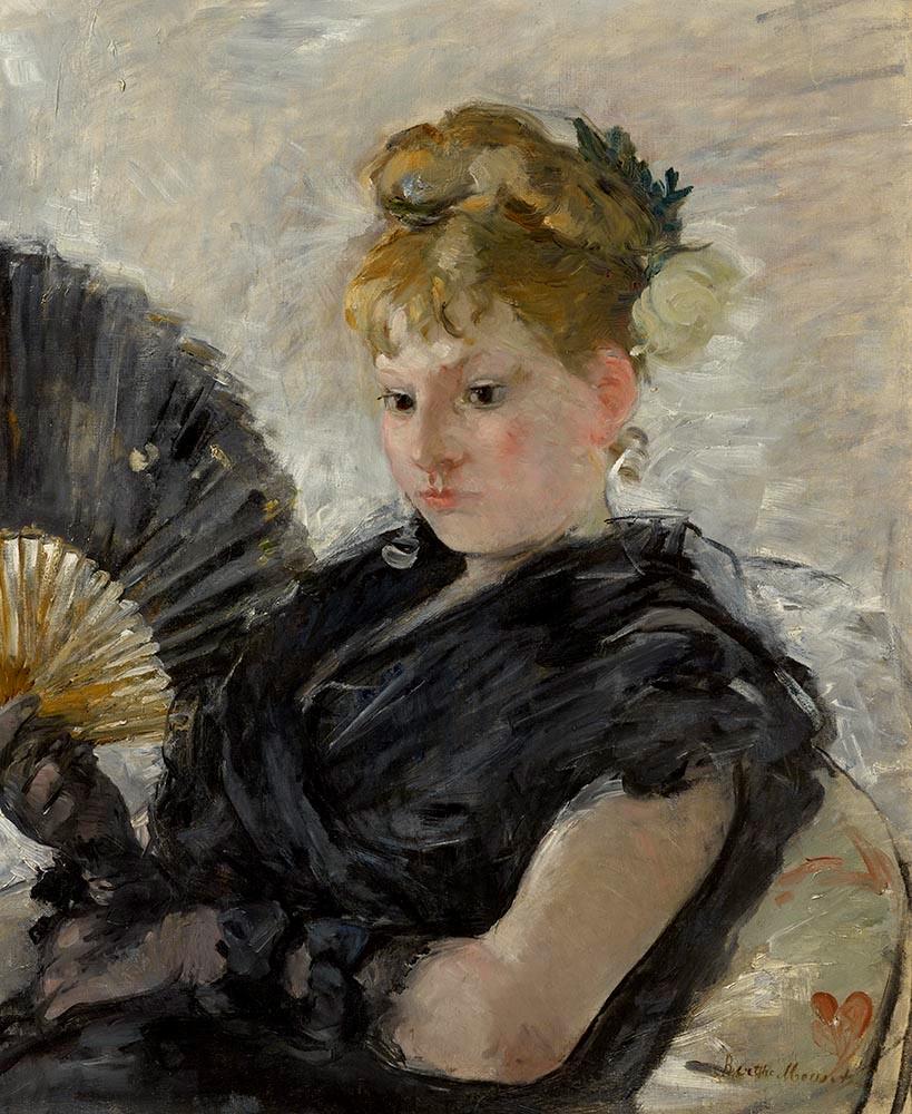 Morisot - Woman with a Fan (Femme à l'éventail)