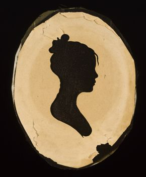 Moses Williams, Revealed Silhouette of a Young Woman, after 1802, wove paper with silk