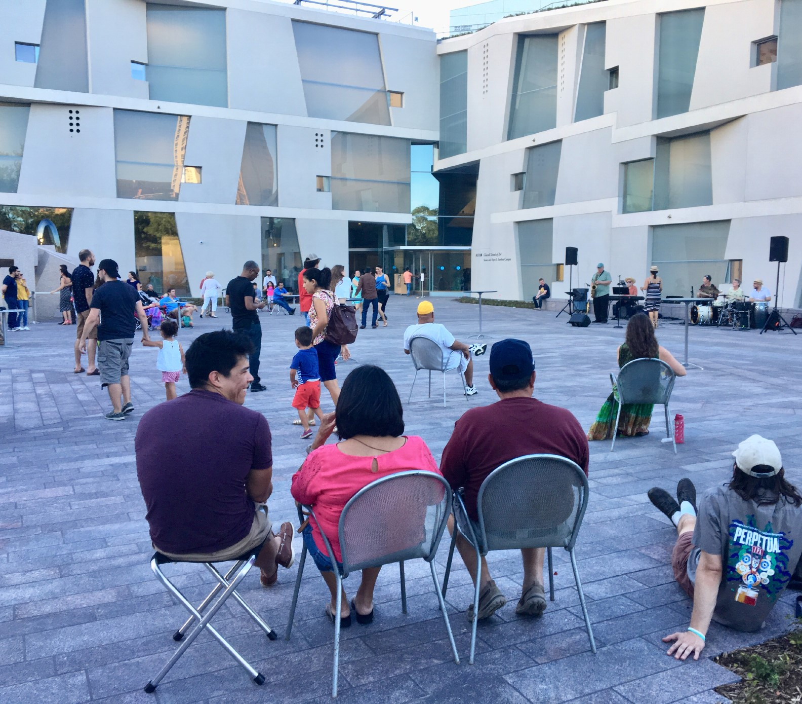Music on the Plaza - band on Brown Foundation Inc. Plaza / at Glassell
