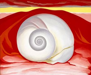 Georgia O'Keeffe, Red Hill and White Shell, oil in canvas, 1938, Museum of Fine Arts, Houston