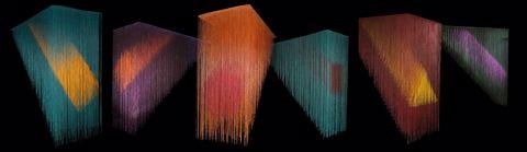 Olga de Amaral, Brumas (Mists), 2013, acrylic, gesso, and cotton on wood