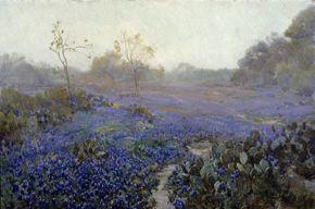 Onderdonk - Blue Bonnets and Cactus