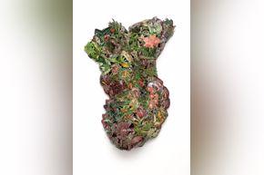 Patrick Turk, Anthropocosmos II, collage and acrylic on panel