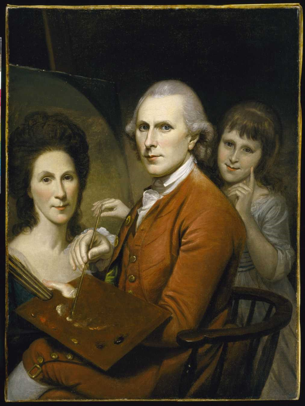Peale Self-Portrait with Angelica and Portrait of Rachel