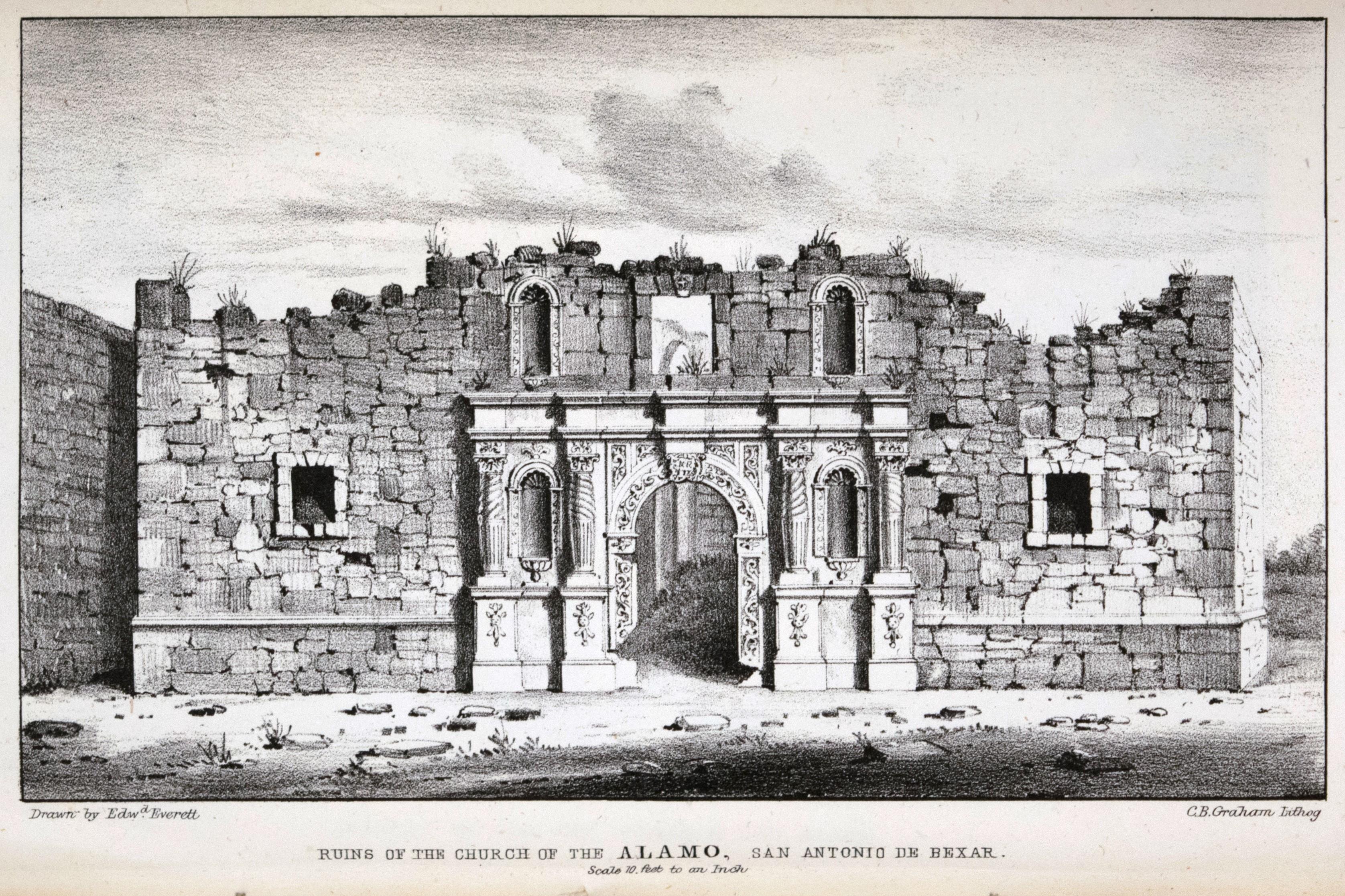 Powell Library / Memoir / Ruins of the Church of the Alamo