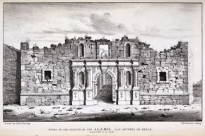 Powell Library / Memoir / Ruins of the Church of the Alamo