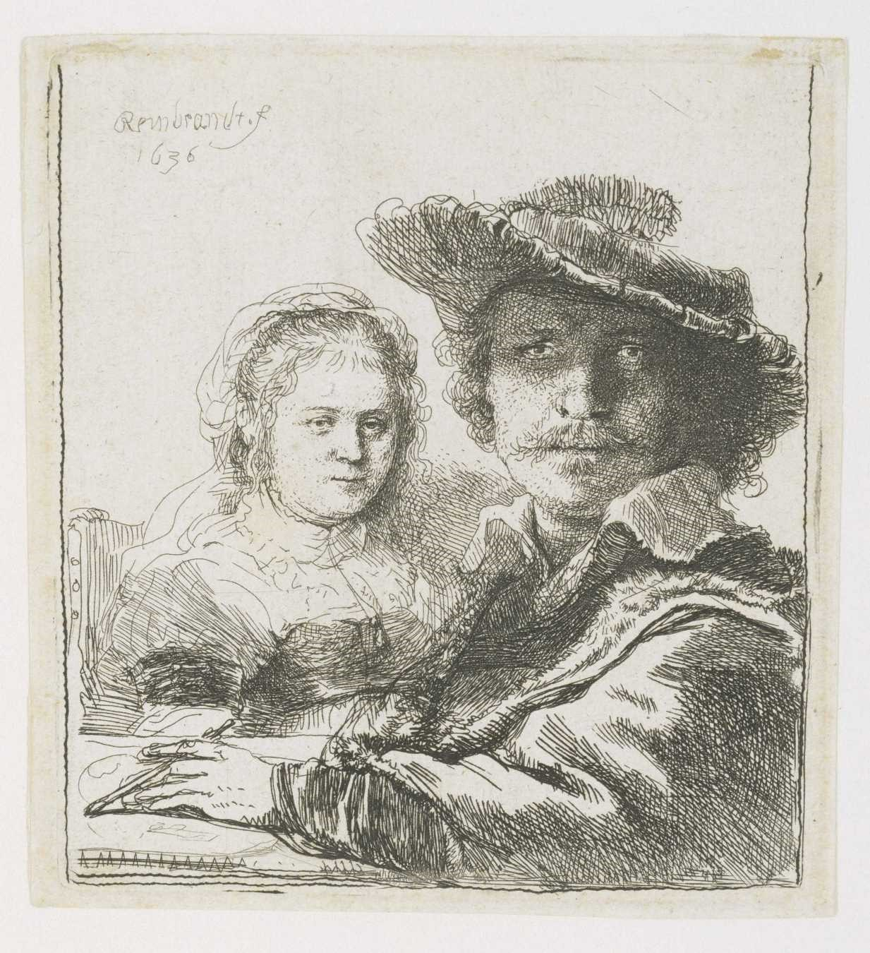 Rembrandt-Rembrandt and His Wife
