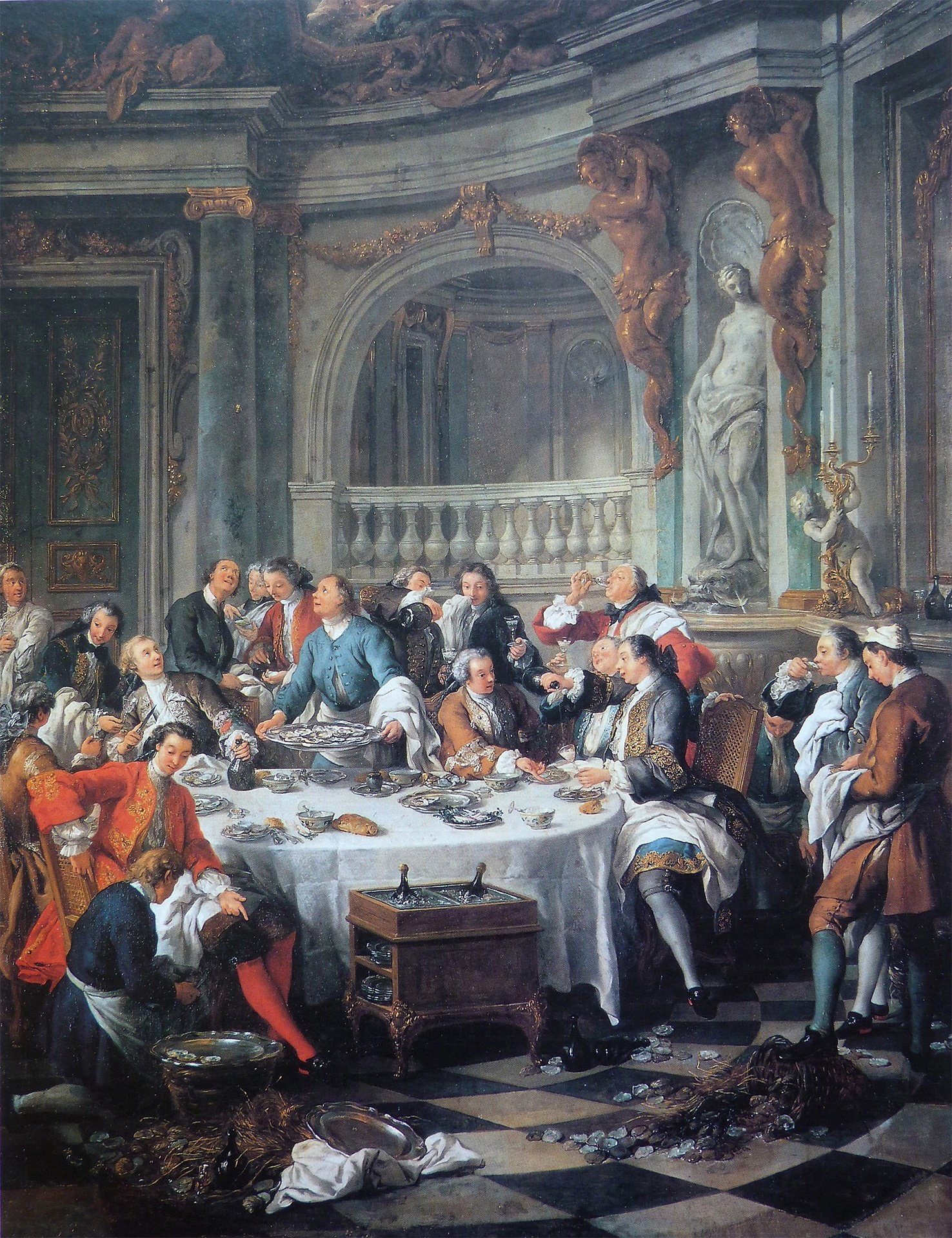 Rienzi champagne dinner painting