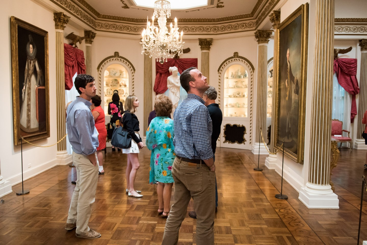Rienzi Twilight Tour / event / people in ballroom, galleries