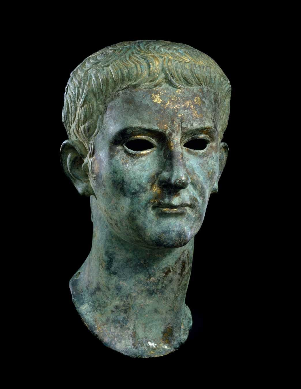 Roman, Imperial Portrait of the Emperor Caligula, God and Ruler, 37–41 AD