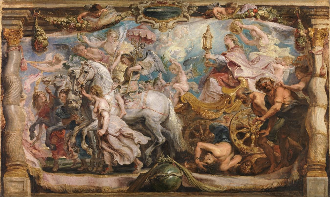 Rubens - The Triumph of the Church oil on panel, prado
