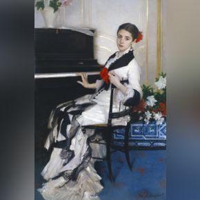 John Singer Sargent, Madame Ramón Subercaseaux, 1880, oil on canvas, private collection.