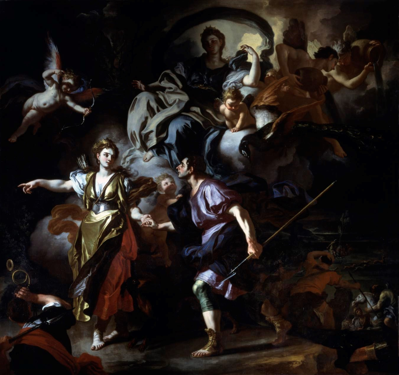 Solimena The Royal Hunt of Dido and Aeneas