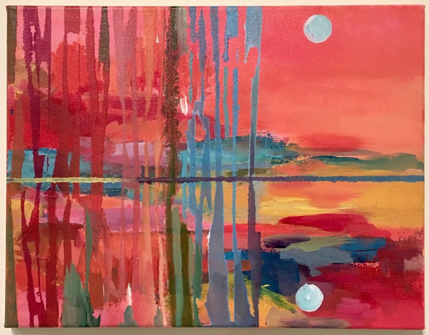 Monica Cuellar, Their Reflection and Love, acrylic on canvas. © Monica Cuellar
