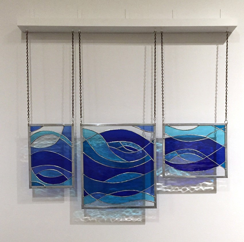Richard Hinson, The Elements: Wind 2.2.a, stained glass. © Richard Hinson