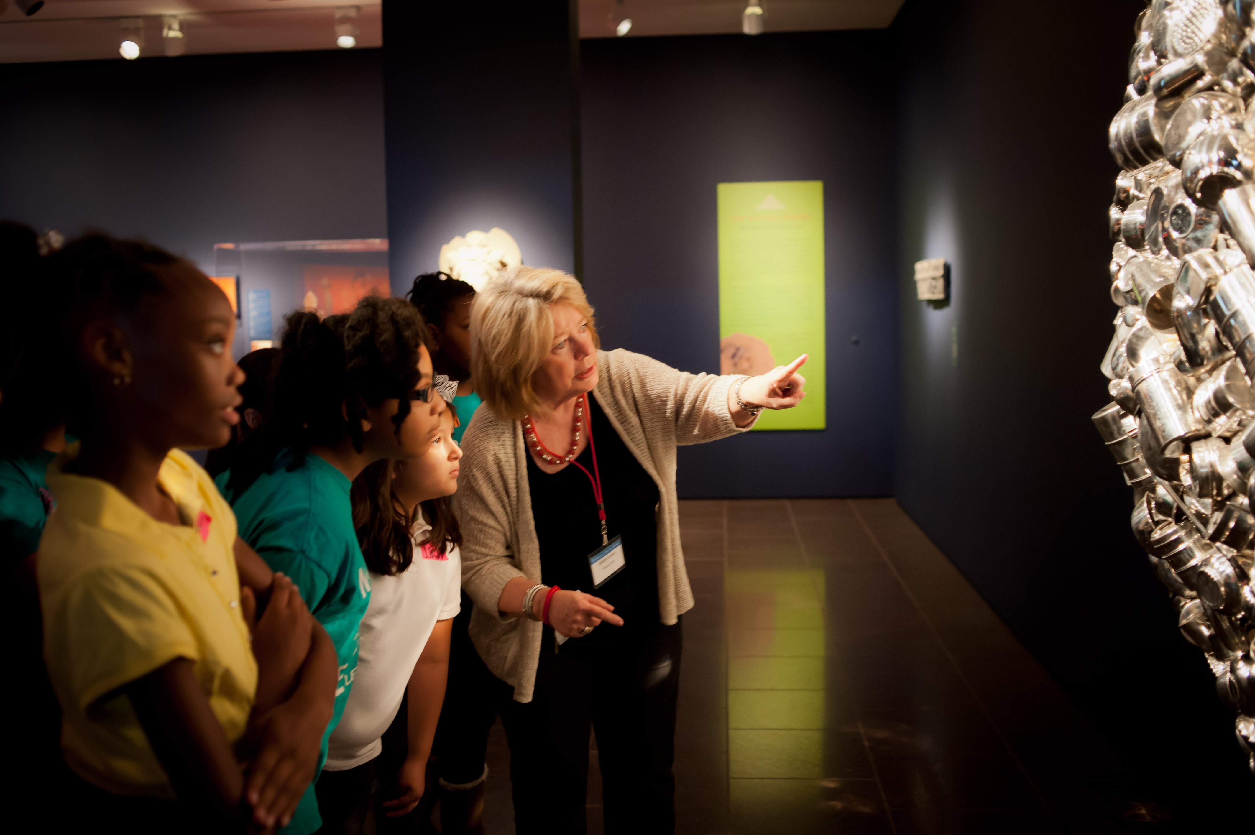 Students with a Docent