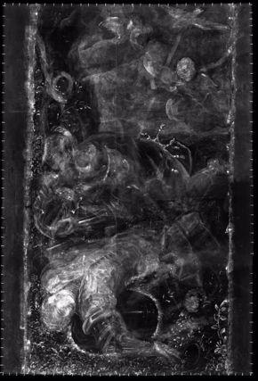 Tancred Baptizing Clorinda, x-radiography image