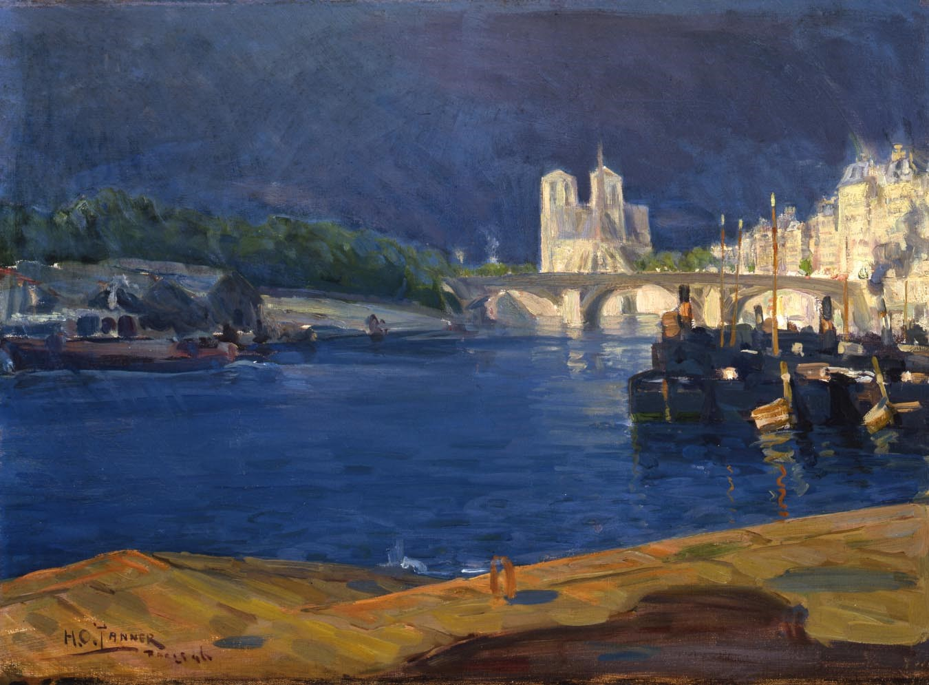 Tanner- View of The Seine, Looking toward Notre Dame