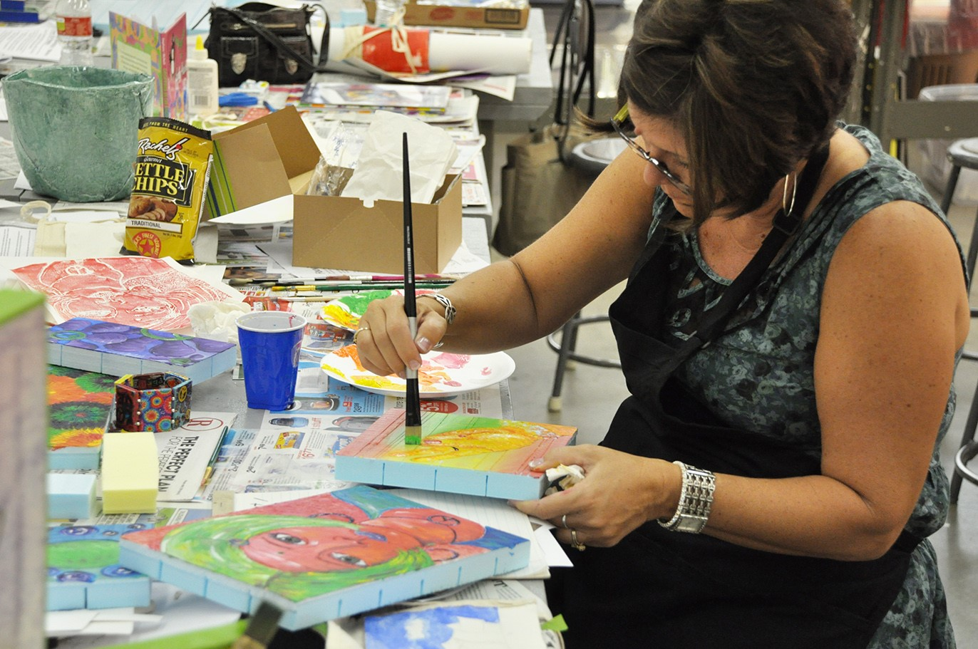 teacher workshop / art-making in the studio / educators