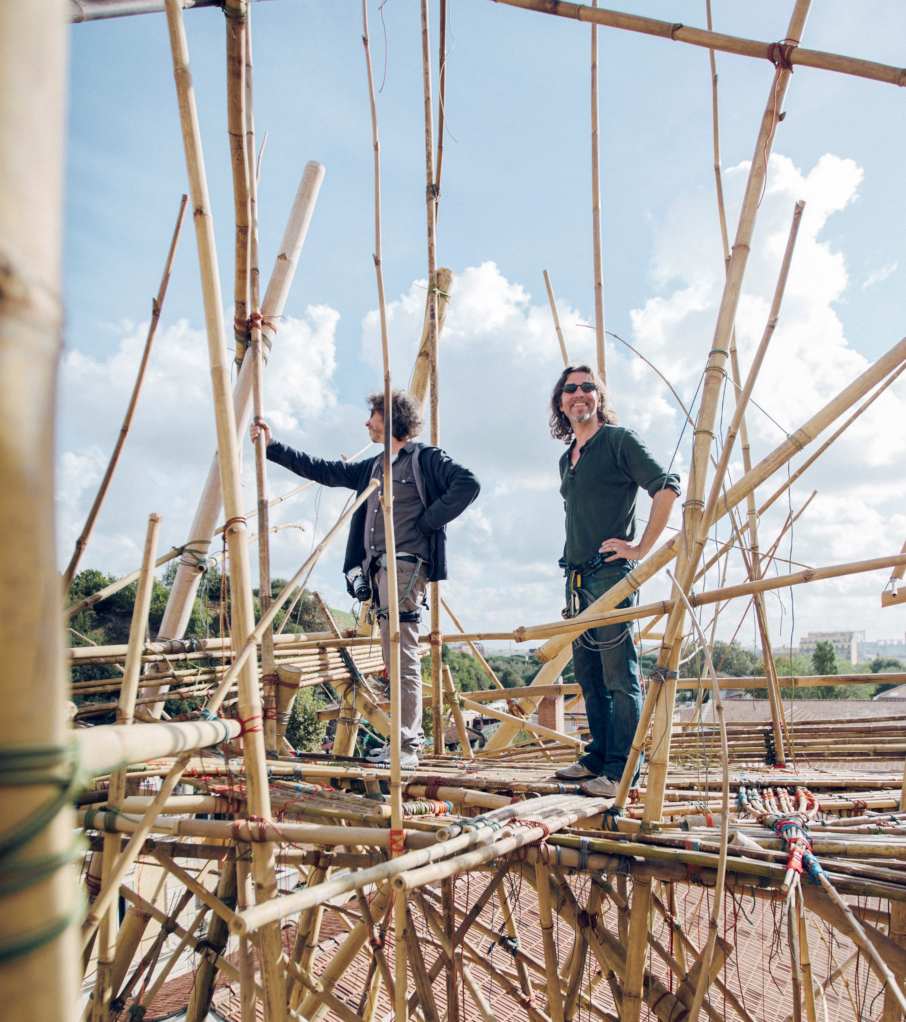 TEMPORARY Big Bambú (Mike & Doug Starn in Rome 2012)