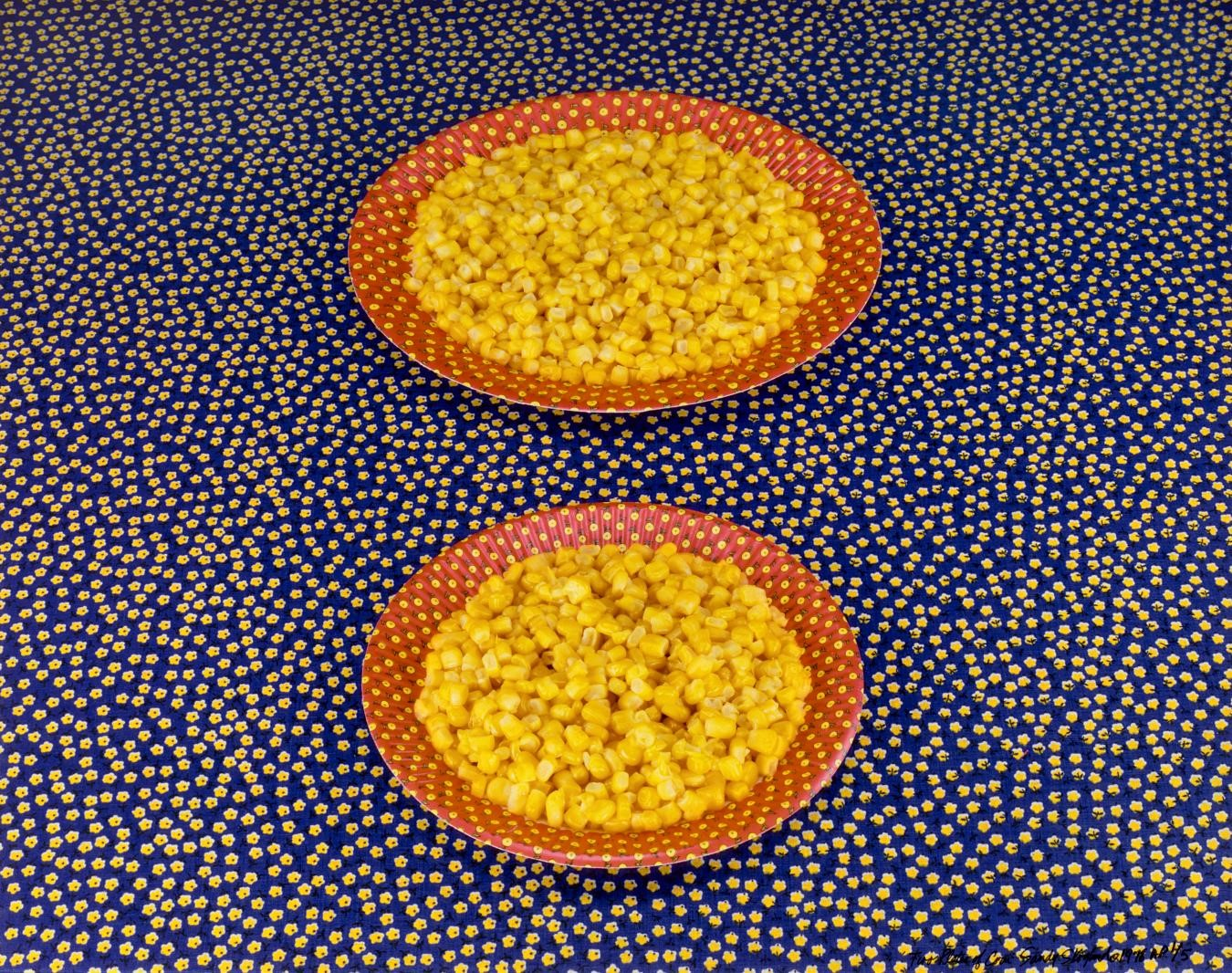 Sandy Skoglund, Two Plates of Corn