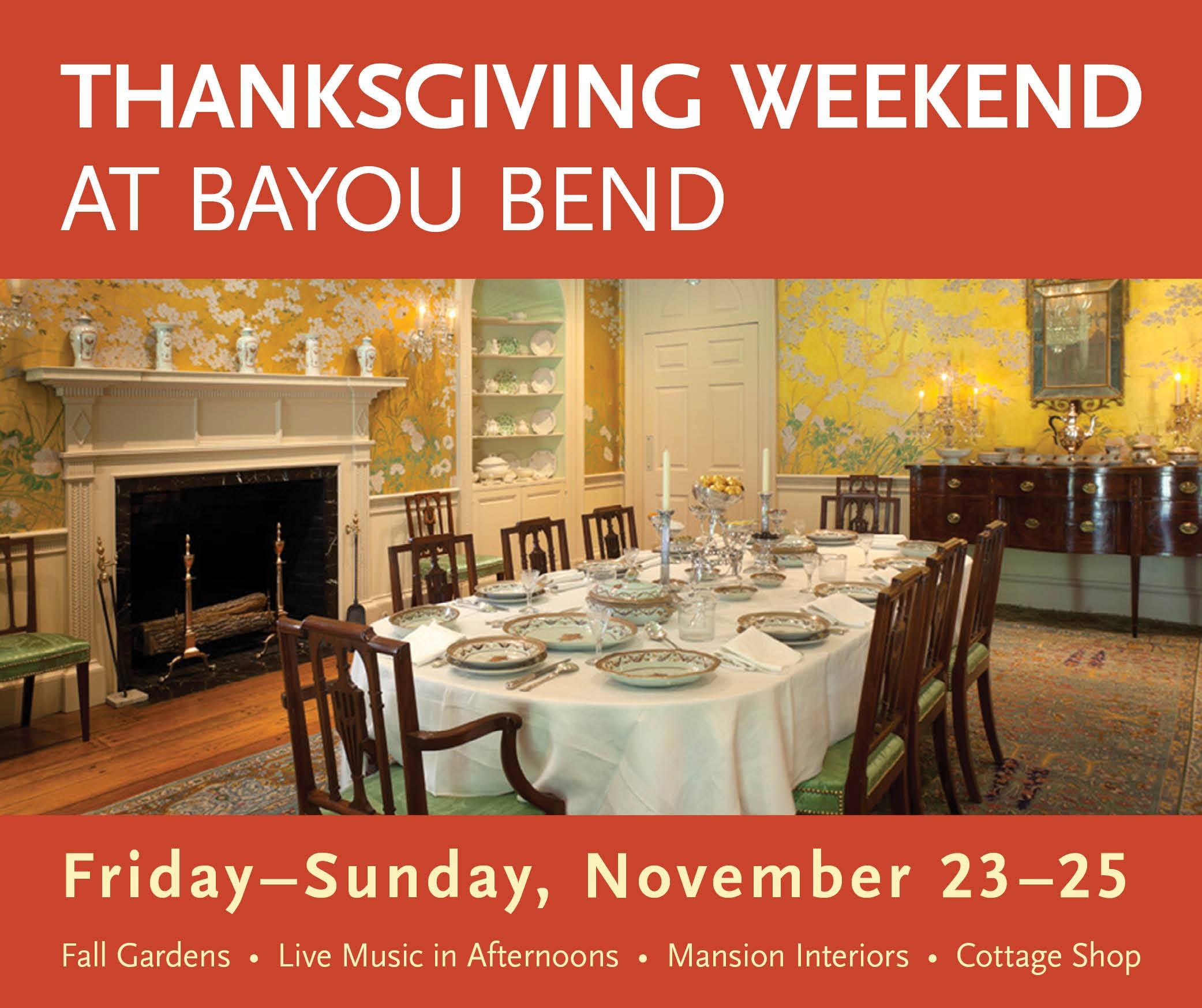 Thanksgiving Weekend at Bayou Bend 2018 graphic