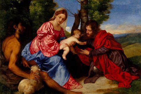 Titian - Virgin & Child w/St. John Baptist
