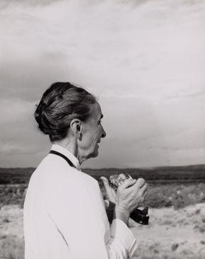 Todd Webb, Georgia O'Keeffe with Camera, 1959, inkjet print