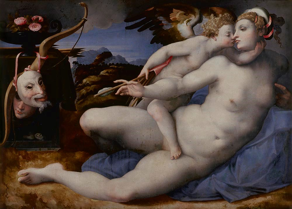 van der Broecke (after Michelangelo) - Venus and Cupid
