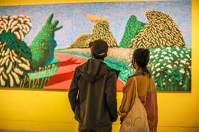 visitors in Hockney – Van Gogh