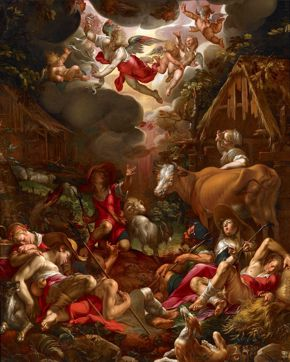 Wtewael - Annunciation to the Shepherds