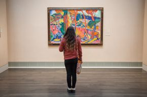 young person in the galleries / derain / visitor